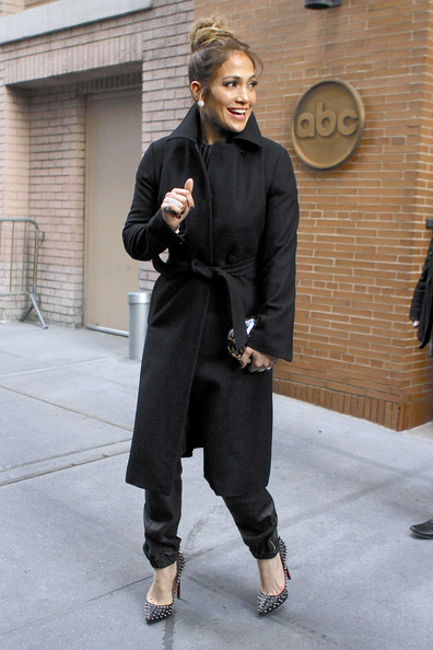 More Pics of Jennifer Lopez Wool Coat (3 of 15) - Wool Coat Lookbook - StyleBistro