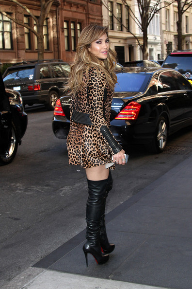 More Pics of Jennifer Lopez Over the Knee Boots (2 of 15) - Jennifer Lopez Lookbook - StyleBistro