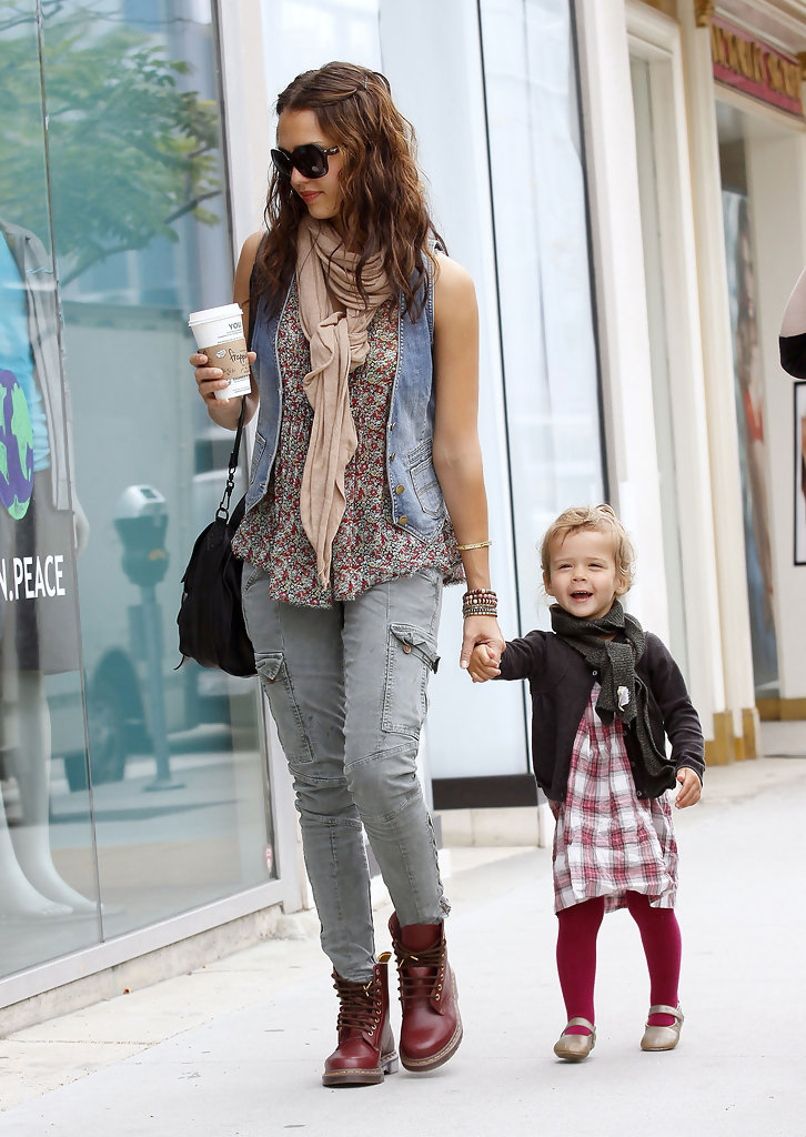 More Pics Of Jessica Alba Lace Up Boots 1 Of 14 Lace Up Boots Lookbook Stylebistro