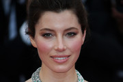Jessica Biel Silver Statement Necklace