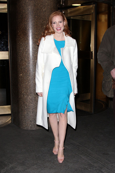 Jessica Chastain Leaves 'Late Night with Jimmy Fallon'
