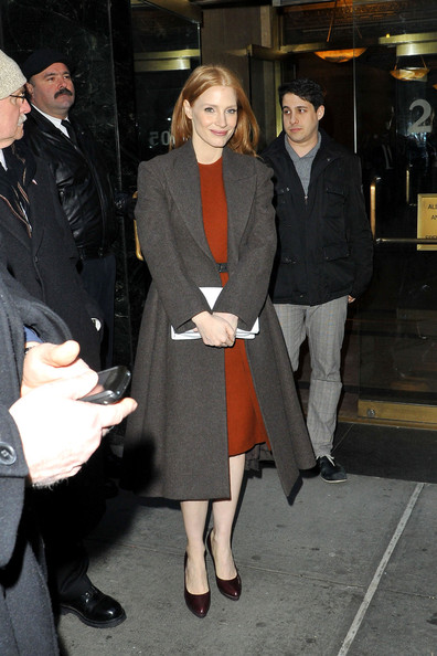Jessica Chastain Wool Coat