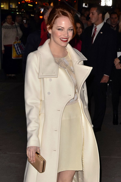More Pics of Emma Stone Wool Coat (1 of 4) - Emma Stone Lookbook - StyleBistro
