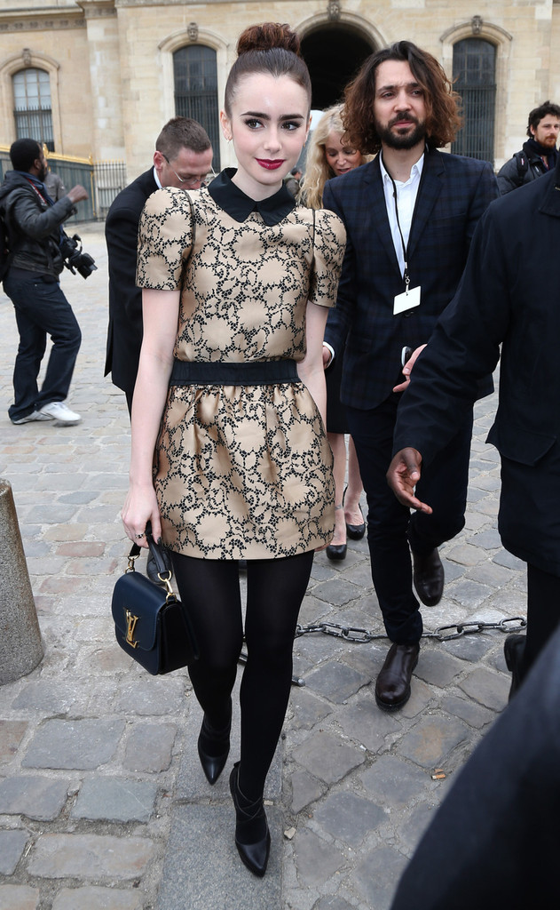 Celebs Arrive for the Louis Vuitton Show