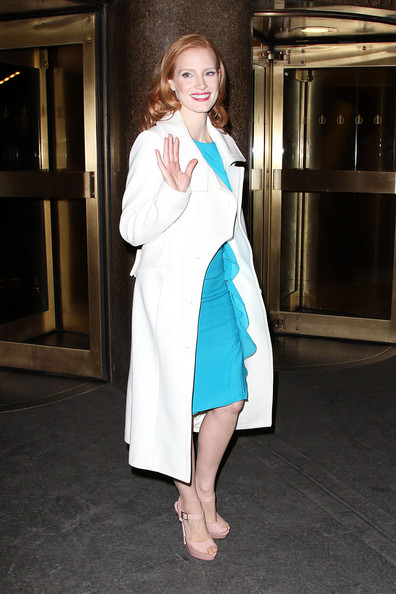 More Pics of Jessica Chastain Platform Sandals (1 of 12) - Platform Sandals Lookbook - StyleBistro