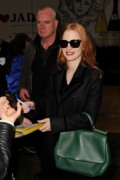 More Pics of Jessica Chastain Wool Coat (7 of 22) - Jessica Chastain Lookbook - StyleBistro