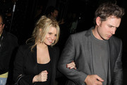 Jessica Simpson and her new fiance Eric Johnson get swamped by paparazzi outside Trousdale nightclub. The couple were out celebrating the birthday Jessica's friend and former personal assistant Cacee Cobb.