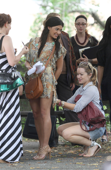 Jessica Szohr Leather Messenger Bag