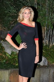 Tamsin Egerton wore a curve hugging dress at a gala dinner.