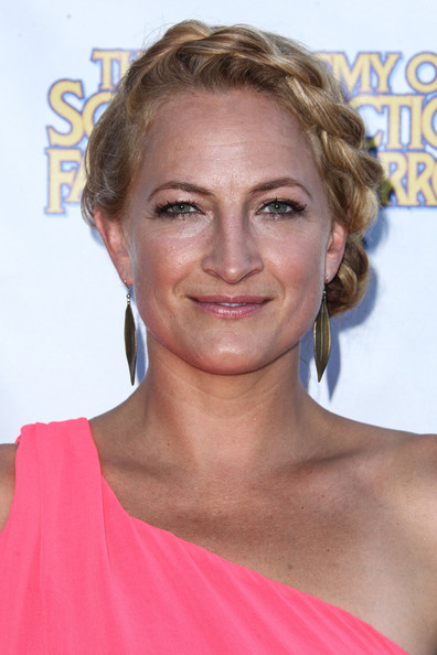 More Pics of Zoe Bell Braided Bun (1 of 4) - Updos Lookbook - StyleBistro