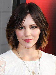 Katharine McPhee's choppy bob had a cool '70s shag look to it!