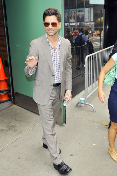 John Stamos Arrives for 'Good Afternoon America'