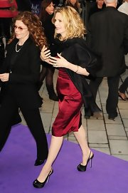 Michelle Pfeiffer covered up with a black pashmina as she arrived at the premiere of 'Dark Shadows.'
