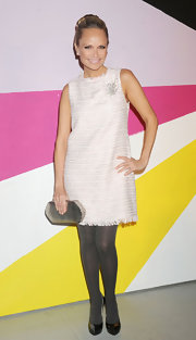 Kristin Chenoweth wore this tween shift dress to the Alice + Olivia show.
