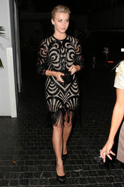 Julianne Hough looked oh-so-sophisticated in a beaded cocktail dress with a fringed hem as she left Chateau Marmont.