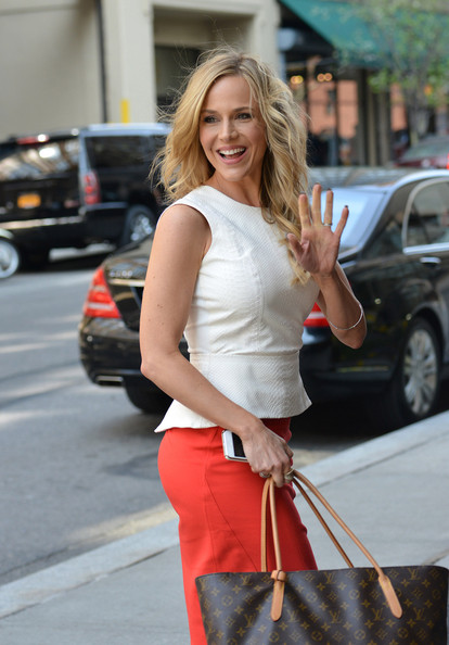 More Pics of Julie Benz Pencil Skirt (1 of 6) - Julie Benz Lookbook - StyleBistro