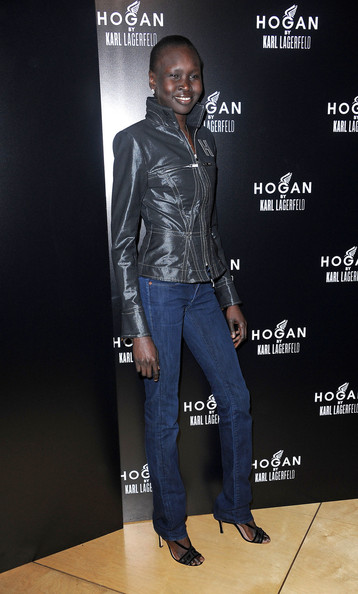 More Pics of Alek Wek Classic Jeans (4 of 4) - Alek Wek Lookbook - StyleBistro