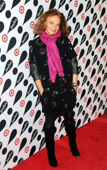 More Pics of Diane von Furstenberg Knit Scarf (1 of 1) - Diane von Furstenberg Lookbook - StyleBistro