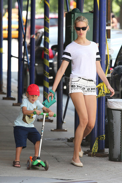 Karolina Kurkova Denim Shorts