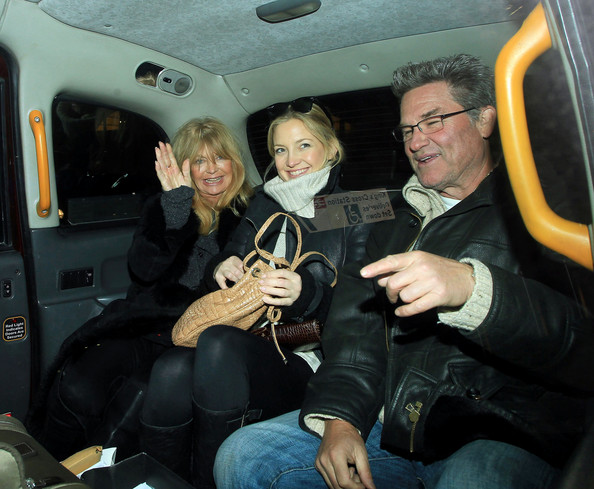 Kate Hudson and Parents in London