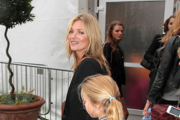 Kate Moss Lila Grace Moss Kate Moss and Her Daughter at London Fashion Week