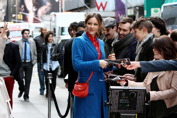More Pics of Katharine McPhee Wool Coat (2 of 9) - Wool Coat Lookbook - StyleBistro