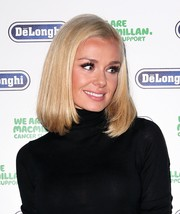 Katherine Jenkins opted for a classic bob when she attended the Macmillan De'Longhi art auction.