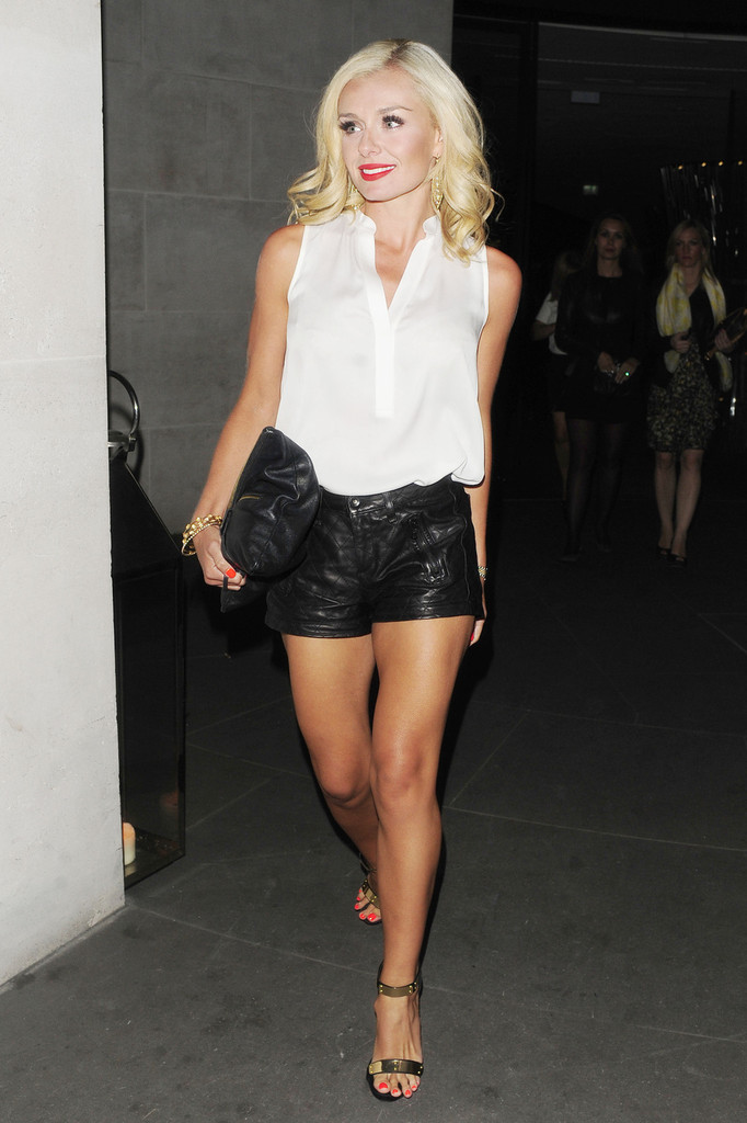 Katherine Jenkins seen after a night out at The 'ME' Hotel in London. She had dinner with friends at the STK Restaurant followed by drinks at The Radio Bar.