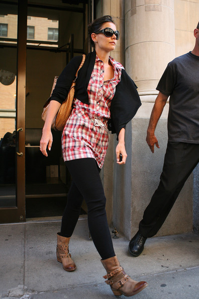 Katie Holmes Motorcycle Boots