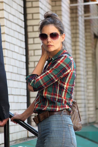 Katie Holmes Oversized Sunglasses