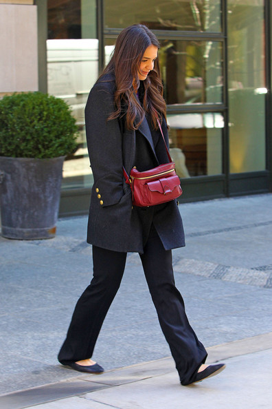 More Pics of Katie Holmes Wool Coat (1 of 13) - Wool Coat Lookbook - StyleBistro