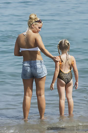 Singer Kerry Katona has a tribal tattoo design featured on her lower back.