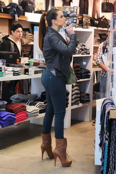 Khloe Kardashian Lace Up Boots