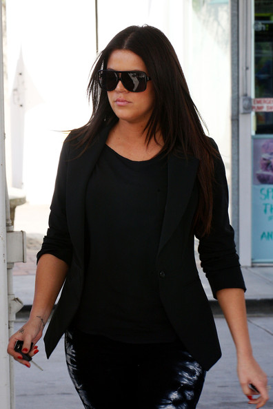 Khloe Kardashian Designer Shield Sunglasses []