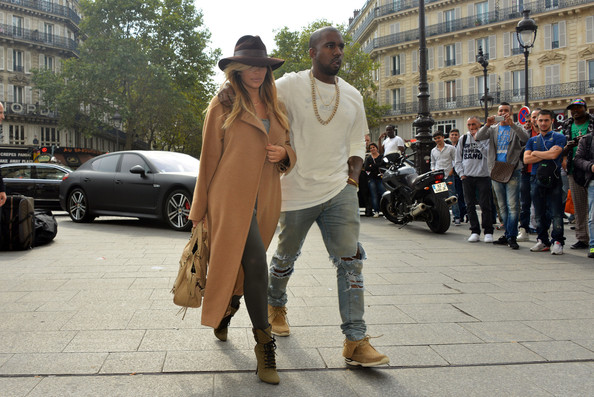 Kim Kardashian and Kanye West Out in Paris