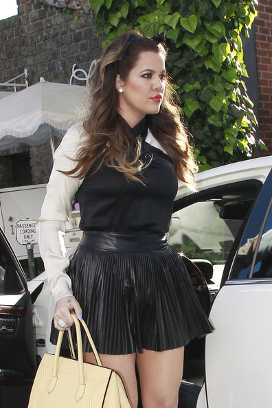More Pics of Khloe Kardashian Mini Skirt (1 of 11) - Khloe Kardashian Lookbook - StyleBistro