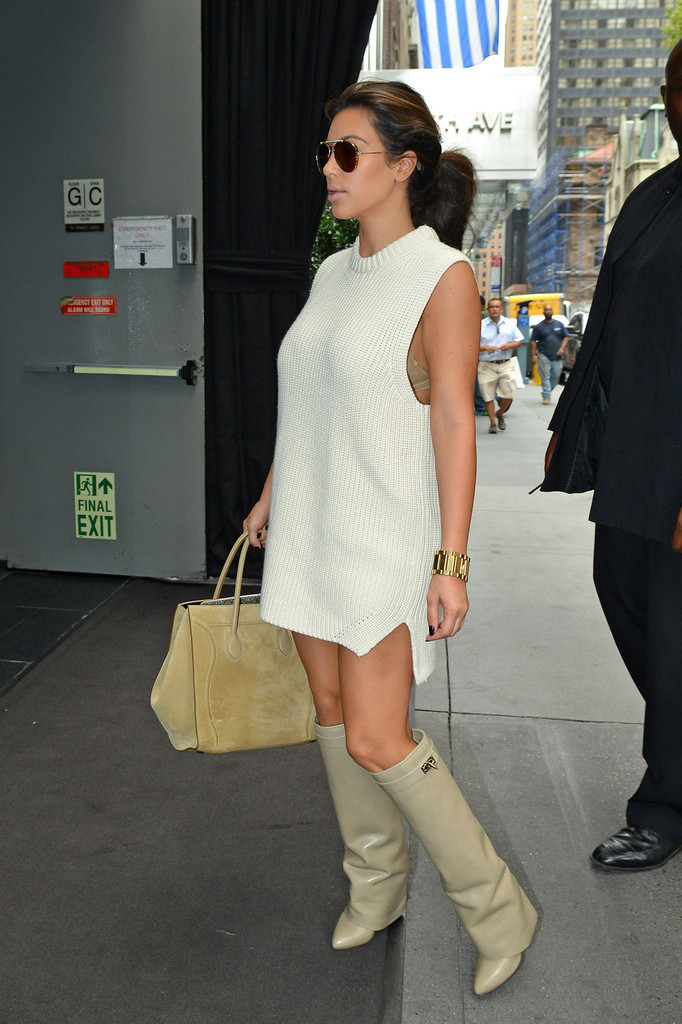 More Pics Of Kim Kardashian Sweater Dress 6 Of 14 Kim