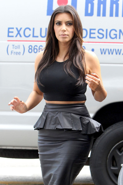 More Pics of Kim Kardashian Crop Top (5 of 13) - Kim Kardashian Lookbook - StyleBistro