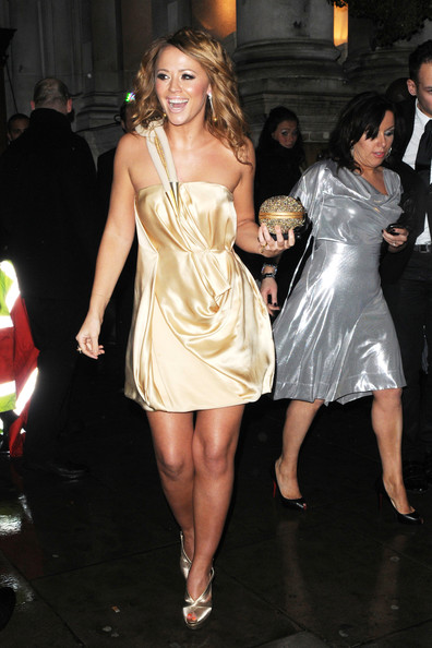 Kimberley Walsh One Shoulder Dress