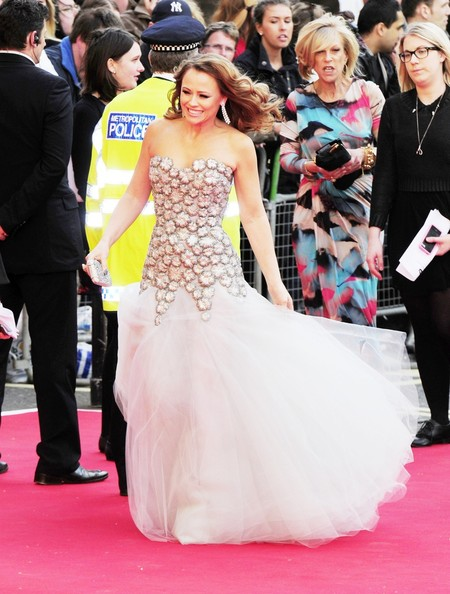 Kimberley Walsh Strapless Dress