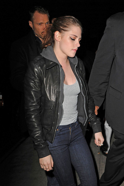 More Pics of Kristen Stewart Leather Jacket (3 of 9) - Kristen Stewart Lookbook - StyleBistro