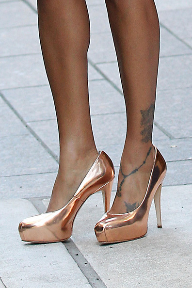 La La Anthony Platform Pumps