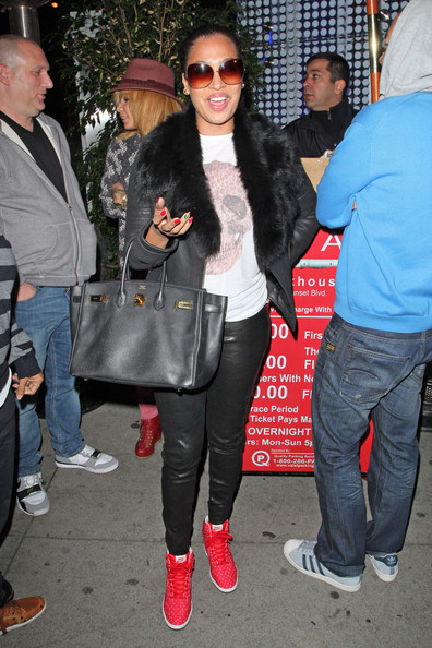 La La Anthony Leather Jacket