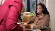 Oprah Winfrey spruced up her outfit with a beaded bracelet during her interview of Lady Gaga.