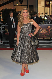 Heidi Range matched her romantic dress with a pair of standout pumps at the premiere of 'Breaking Dawn'.