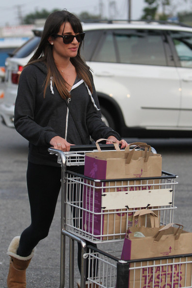 Lea Michele Buys Groceries in LA