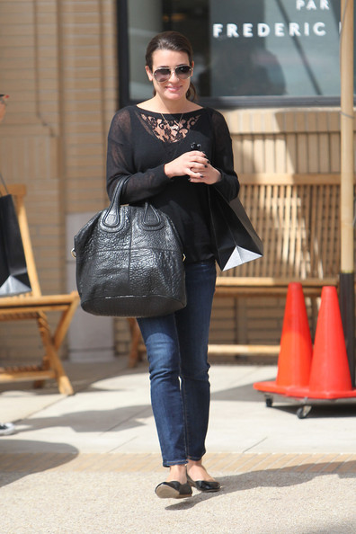 More Pics of Lea Michele Leather Tote (5 of 12) - Lea Michele Lookbook - StyleBistro