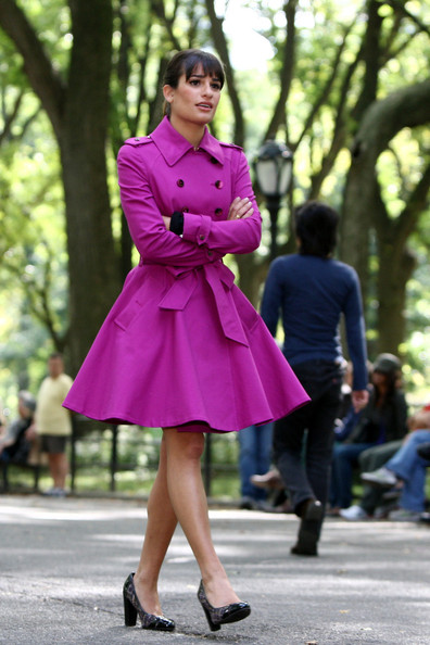 More Pics of Lea Michele Trenchcoat (2 of 24) - Lea Michele Lookbook - StyleBistro