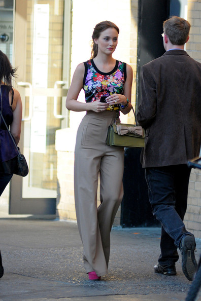 Leighton Meester High-Waisted Pants