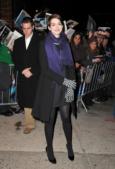 More Pics of Anne Hathaway Tights (3 of 5) - Anne Hathaway Lookbook - StyleBistro